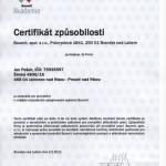 Baumit certifikat