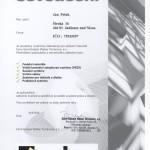 Certifikat Weber